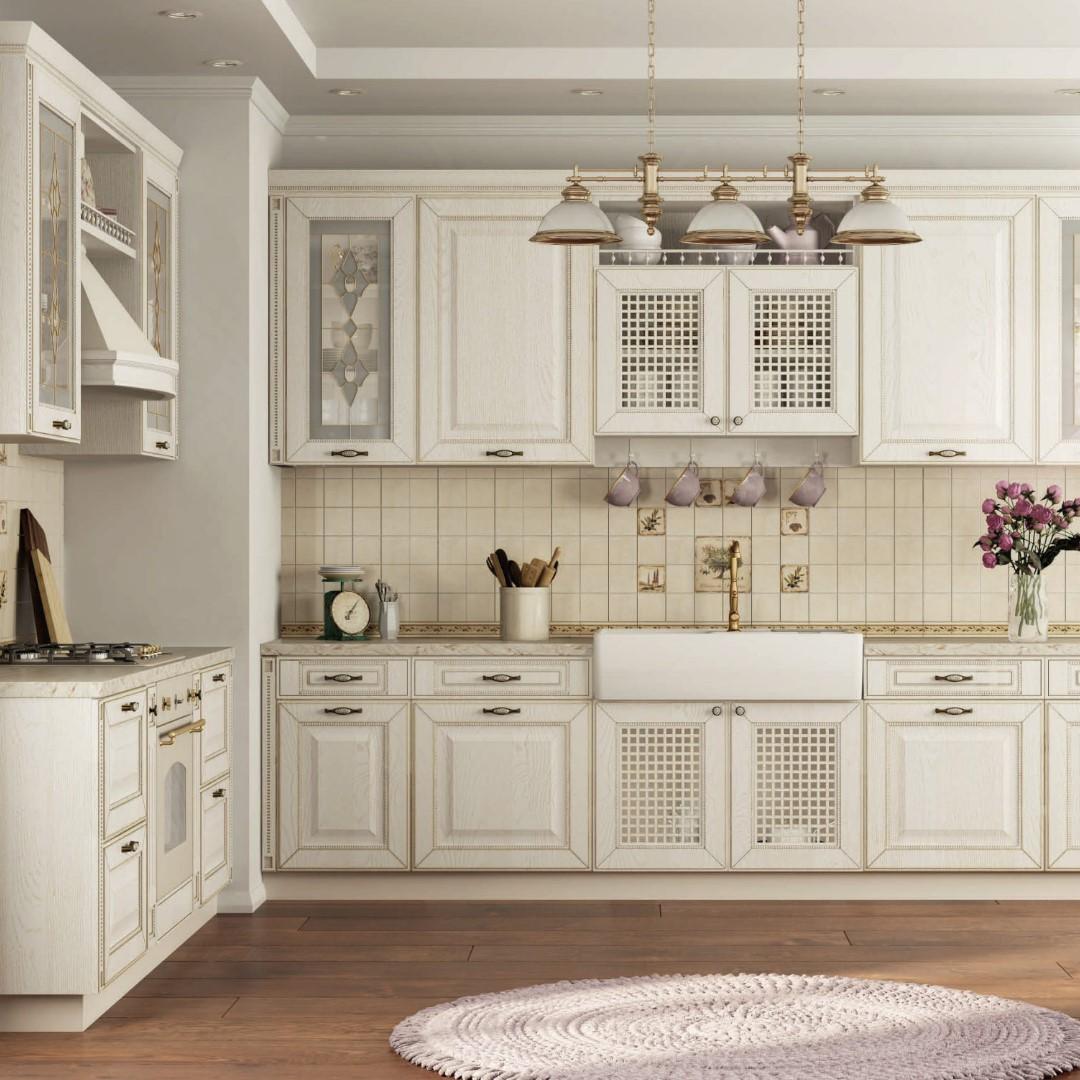 Белая кухня ЗОВ - серия Глазго