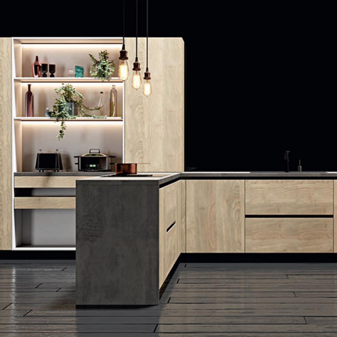 """Кухня """"САБИА"""" (пластик) в современном стиле"""