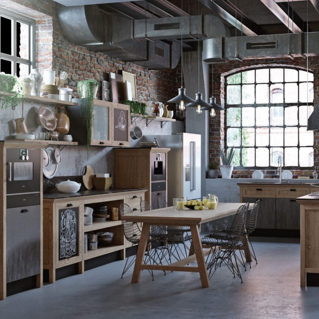 """Кухня """"Лофт"""" без верхних шкафов"""