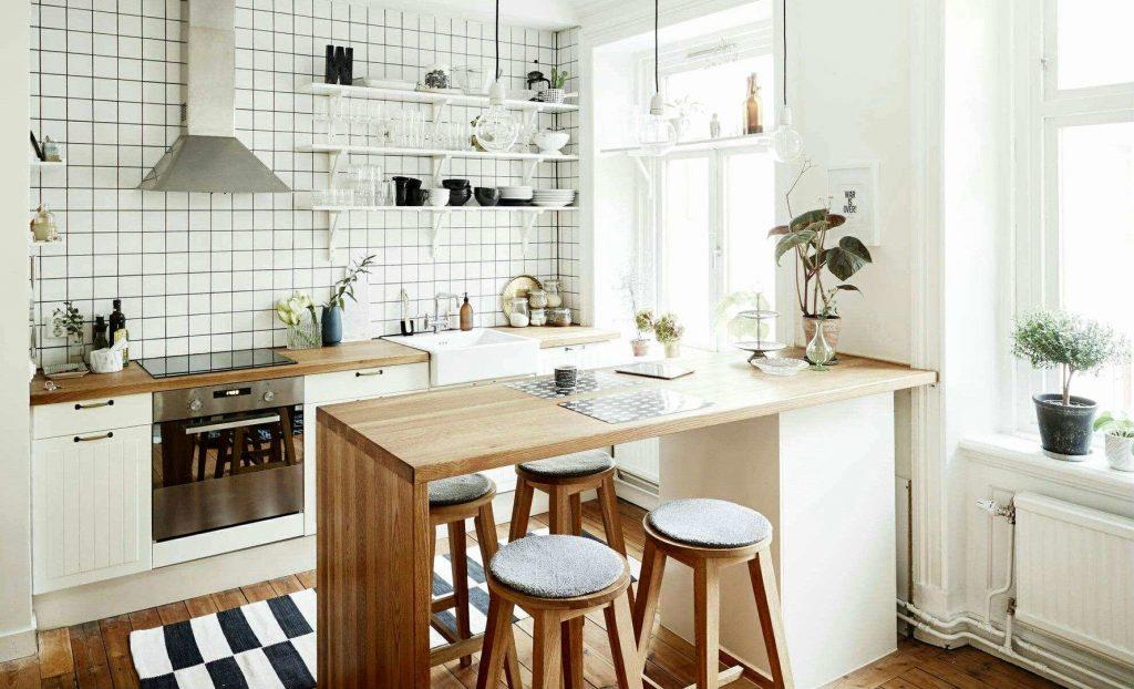Кухня в скандинавском стиле с открытым хранением