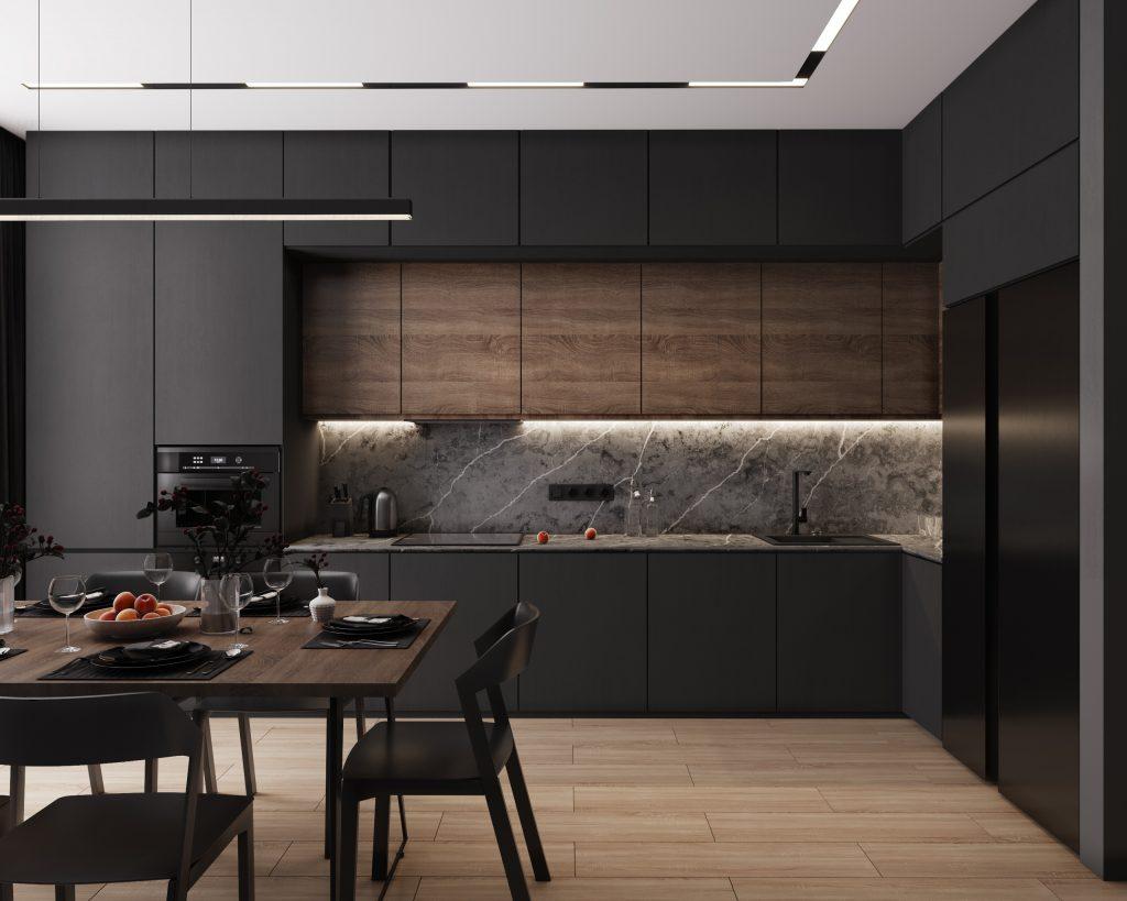 Тренд дизайна кухни 2021 - Черный цвет