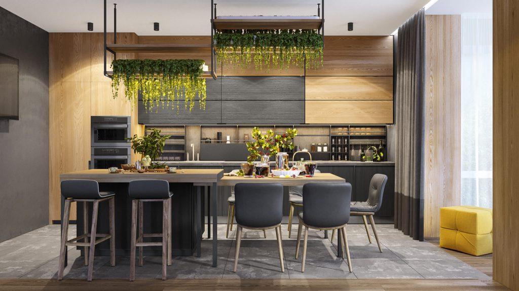 Тренд дизайна кухни 2021 - ЭКО-стиль