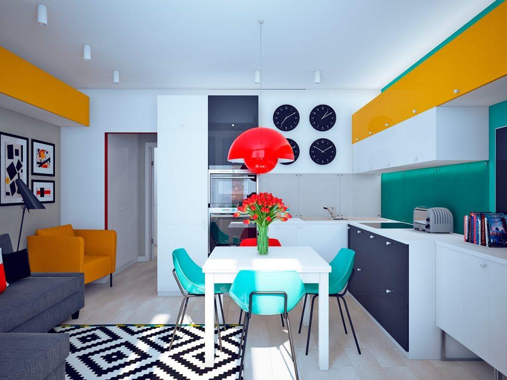 Тренд дизайна кухни 2021 - Поп-арт