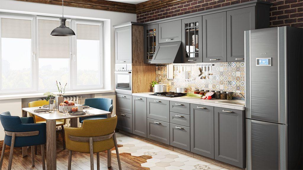 Тренд дизайна кухни 2021 - Серые оттенки