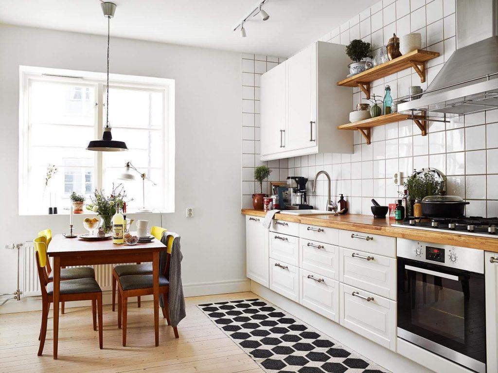 Тренд дизайна кухни 2021 - Скандинавский стиль