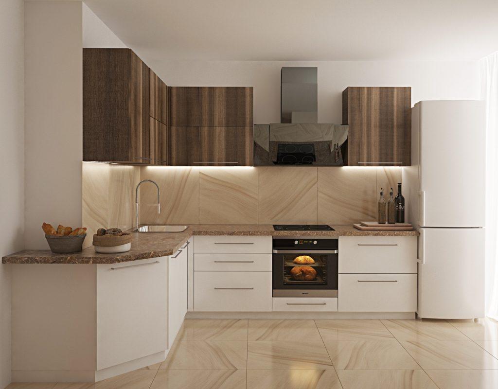 Кухня с внешним углом - вариант оформления