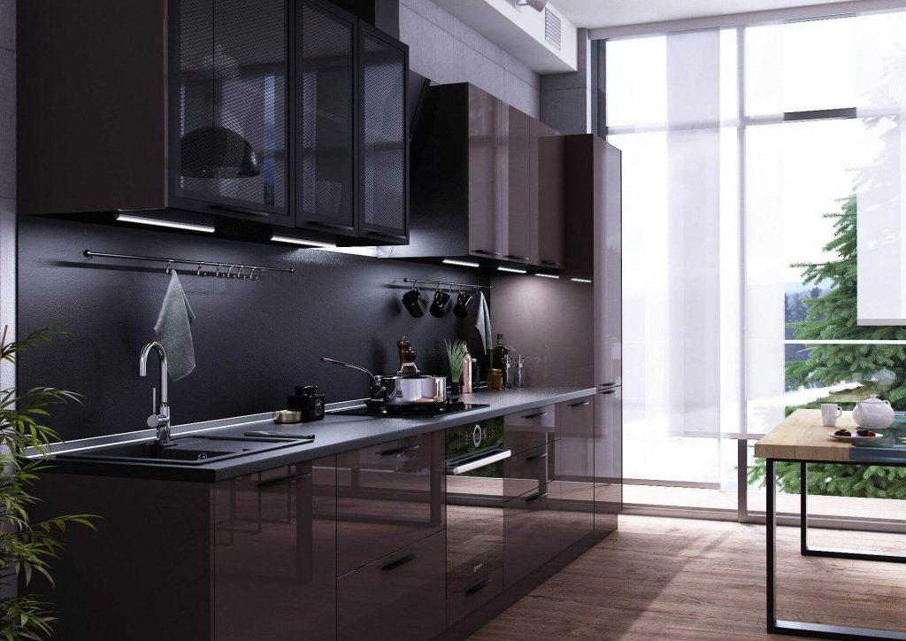 Стеклянная кухня - нестандартное и оригинальное решение